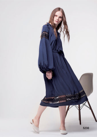 Navy Silk Dress