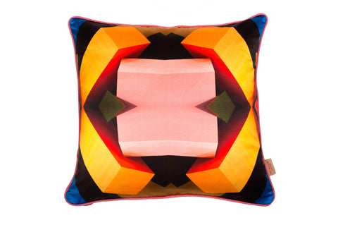 Pink In The Middle Silk Cotton Square Cushion