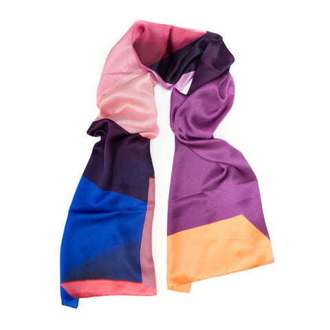 Purple Multi Blocks Scarf