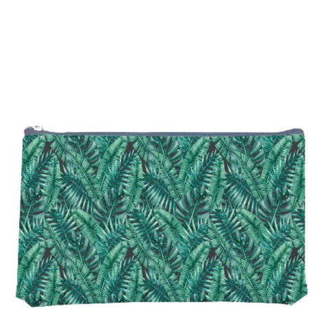 Palm Leaves Print Pouch