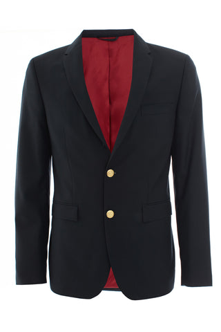 Dark navy single breasted blazer