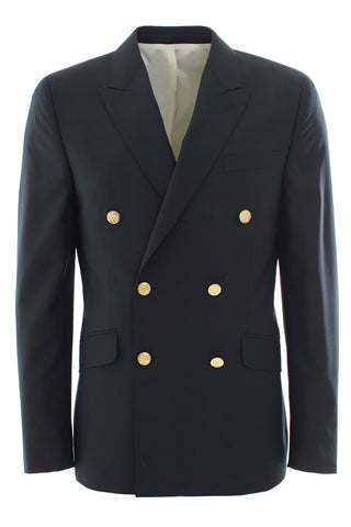 Dark navy double breasted blazer