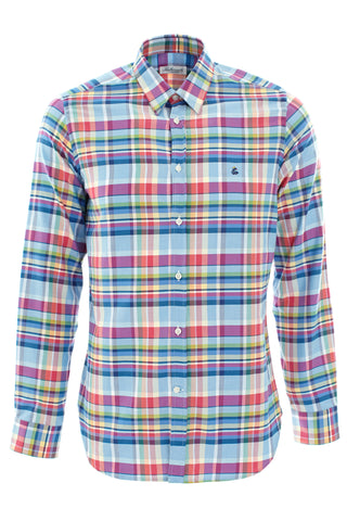 Multi check large shirt