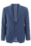 Blue unlined single breasted Jacket