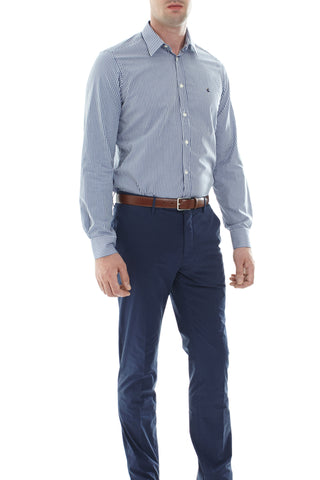 Navy/Ivory check shirt