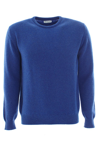 Blue wool round neck sweater