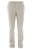 Light grey slim poplin pant