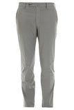 Dark grey slim poplin pant