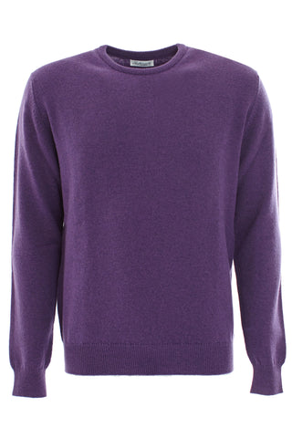 Purple wool round neck sweater