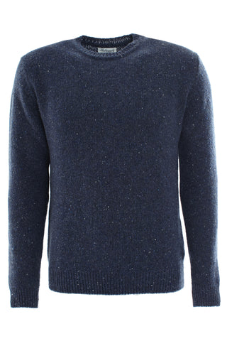 Cashmere Round Neck Sweater - Denim