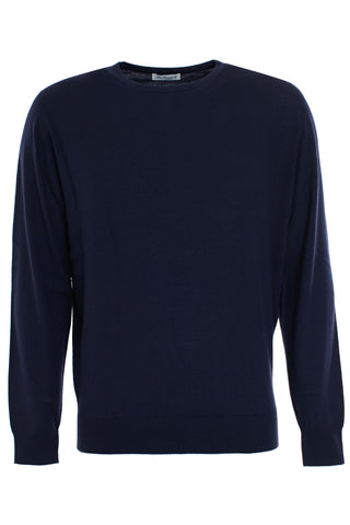 Navy cashmere and Silk crew neck Pullover