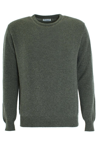 Green wool round neck sweater