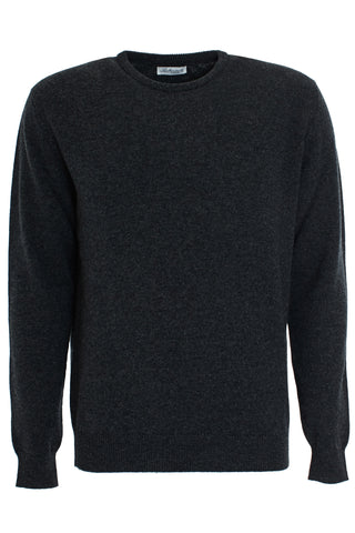 Charcoal wool round neck sweater
