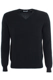 Cashmere Vee Neck Sweater - Black