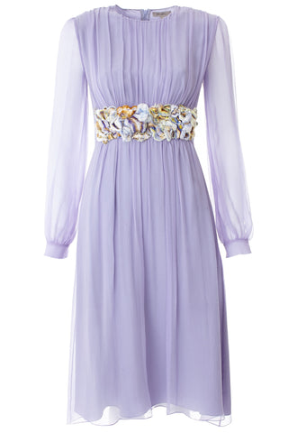 ELIZABETH Lilac Silk Chiffon Dress
