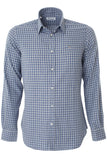 Brushed Cotton Shirt - Grey/Blue