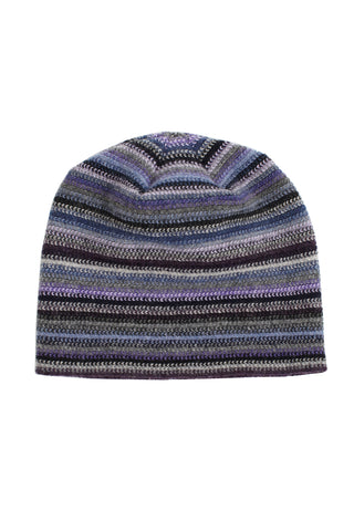 Lambswool Beanie Hat - Blue John