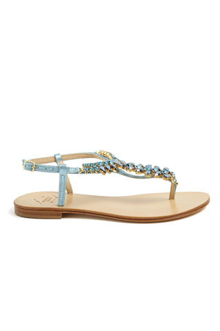Crystal Leaves Sandals