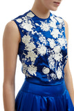 Betty Embroidered Top - Blue