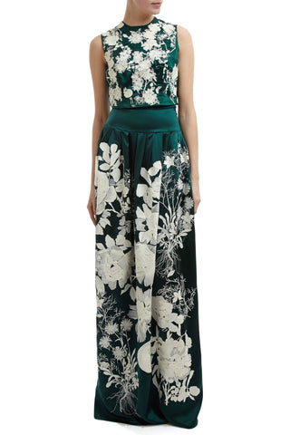 Becca Embroidered Skirt - Green