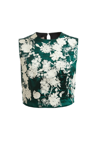 Betty Embroidered Top - Green