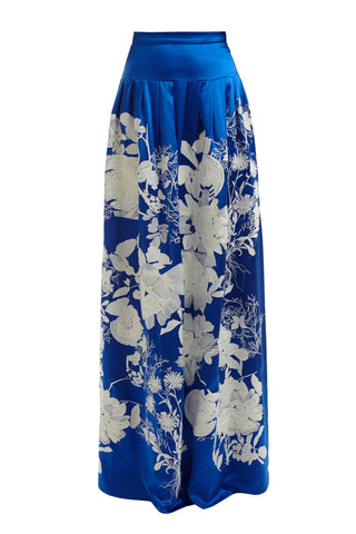Becca Embroidered Skirt - Blue