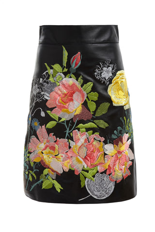 Dora Leather Skirt