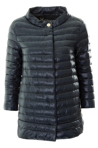 Ink Feather Padded Coat