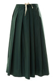 Sake Cotton Midi Skirt - Green