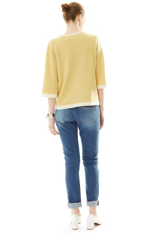 Amy Jacquard Knit Sweater Mustard