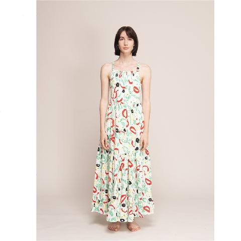 Cotton Print Long Dress