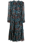 Seraphina ruffled floral print dress