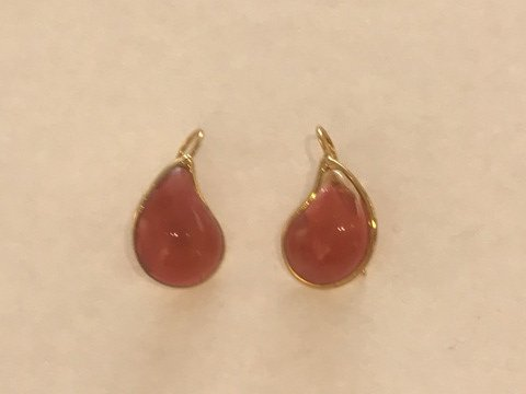 Teardrop Earrings - Carnelian Red