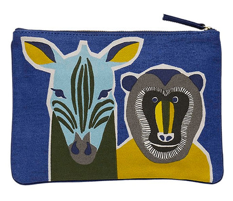 Printed Cotton Canvas Pochette Totem