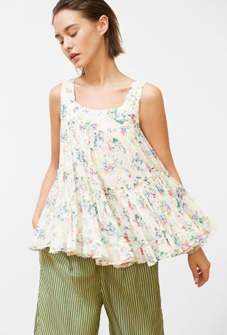 Asha Floral Cotton Top