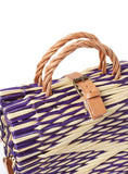 Traditional Straw Bag - Purple Pasta Large