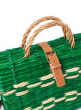 Traditional Straw Bag - Green Medium