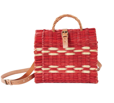 Traditional Straw Bag - Red Medium