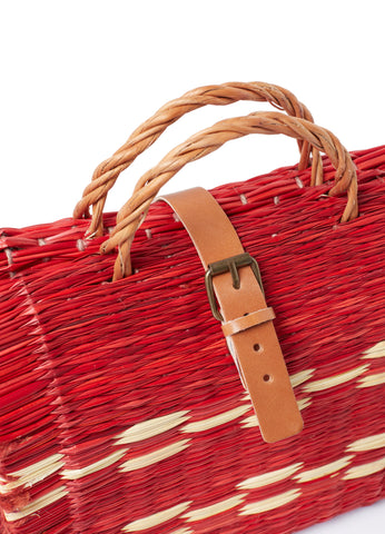 Traditional Straw Bag - Red Large