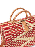 Traditional Straw Bag - Red Pasta Medium