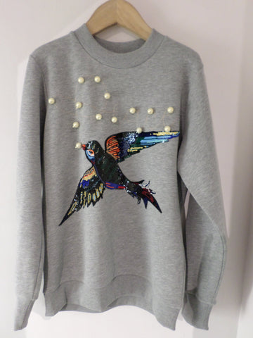 Bird & Peace Sweatshirt - Grey