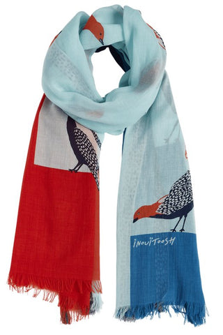 Printed Cotton Scarf  Birds