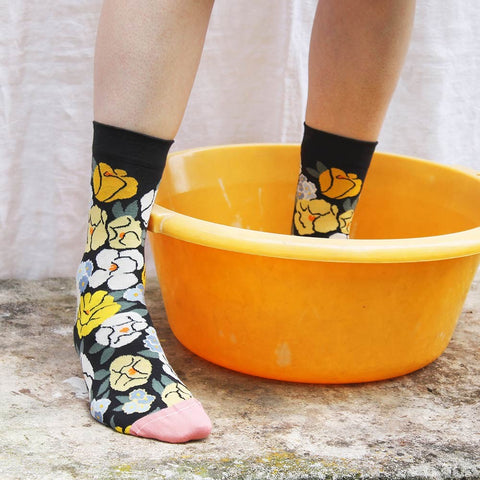 Dark Flower Socks