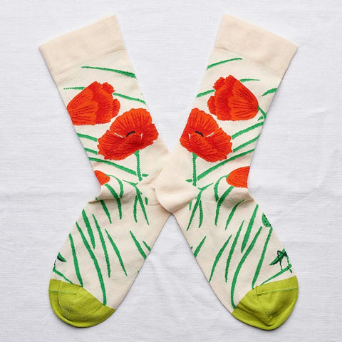 Natural Poppy Socks
