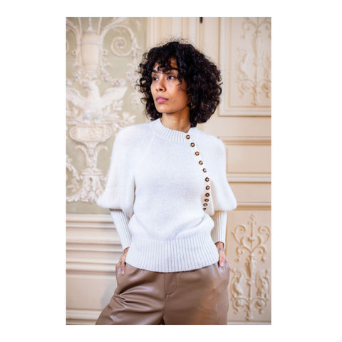 Cream Magnesite Sweater