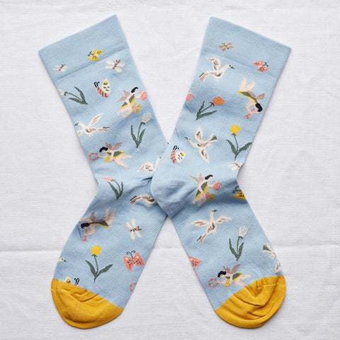 Celestial Blue Angel Socks