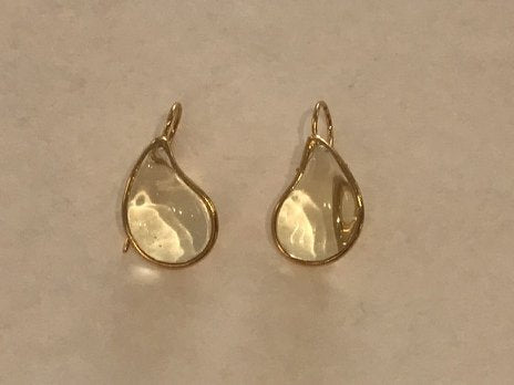 Teardrop Earrings - Citrine