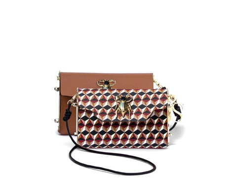Geometric Mini Reversible Crossbody Bag