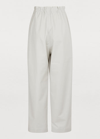 Cotton Peak Trousers - Ivory