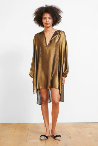 Firmament Bronze Silk Top